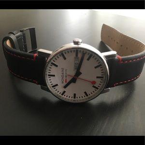 Mondaine day date Swiss quartz watch